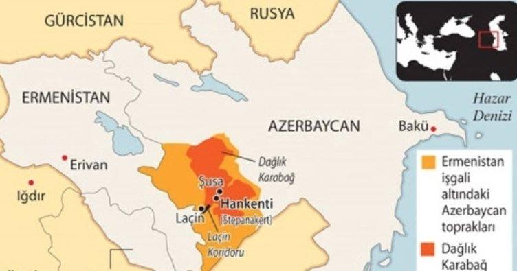 28 sene sonra ezanların okunduğu Şuşa nerede? Azerbaycan'ın Ermenistan'dan geri aldığı Şuşa kentinin haritadaki konumu!