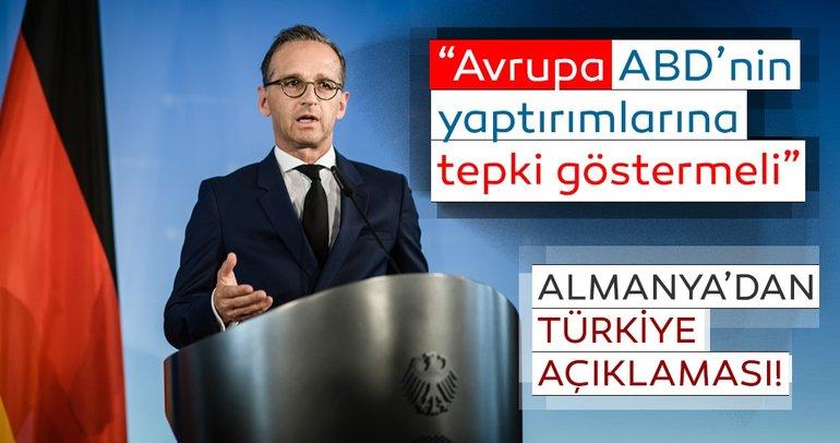 """Alman Dışişleri Bakanı: """"Avrupa, ABD'nin Türkiye'ye yaptırımlarına tepki göstermeli"""""""