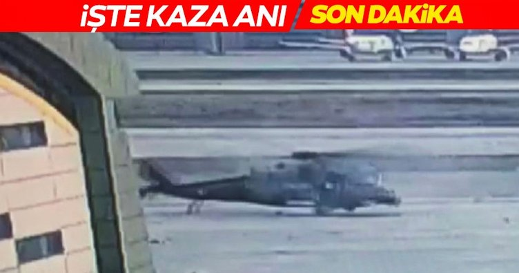 SON DAKİKA: Helikopter kazasının görüntüleri ortaya çıktı