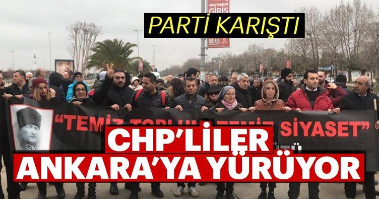Son dakika: Bir grup CHP'li Ankara'ya yürüyüş başlattı!