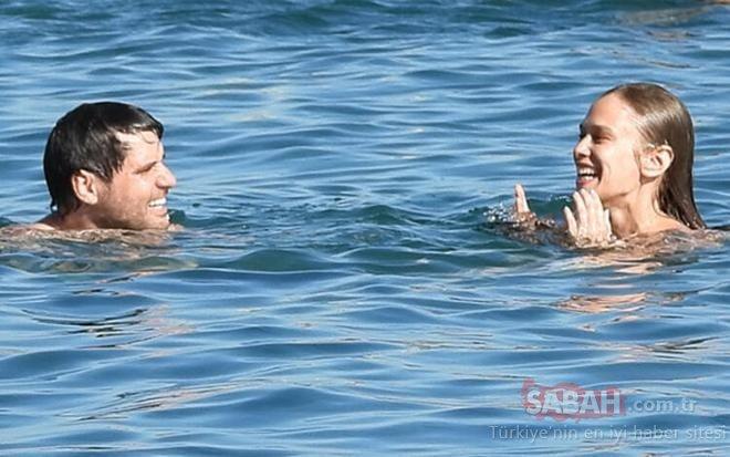 Seksenler dizisinin yıldızları Begüm Öner ve Ceyhun Fersoy denizde aşk tazeledi! Serin sularda romantik anlar…
