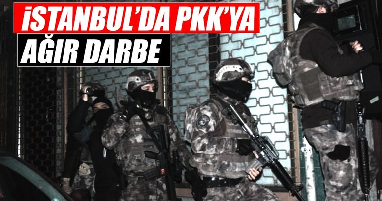 İstanbul'da terör örgütü PKK'ya operasyon: 11 gözaltı