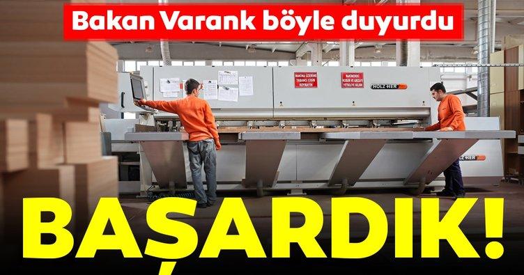 Bakan Varank duyurdu! 2,3 milyar dolar dış ticaret fazlası vermeyi başardık