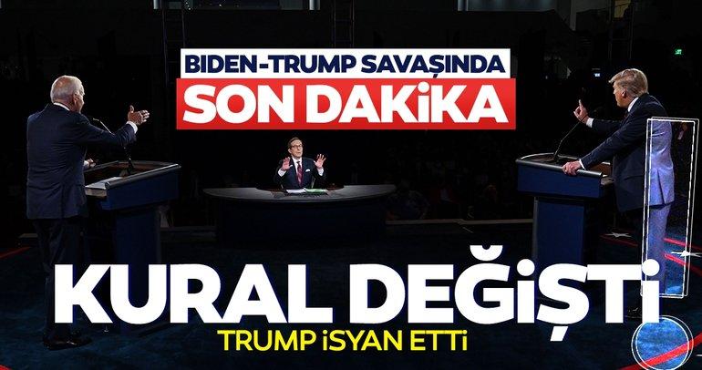 Son dakika haberleri: ABD seçime giderken Donald Trump ve Joe Biden yarışında kurallar değişti!