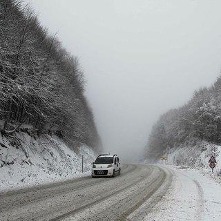 Kütahya'da kar yağışı ve sis