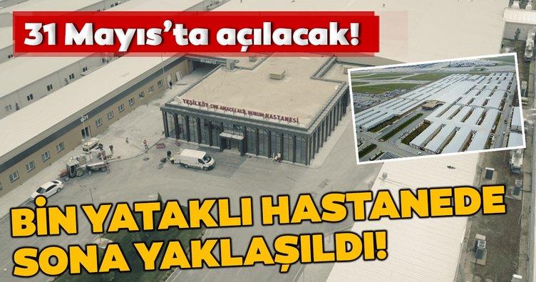 Yeşilköy Çok Amaçlı Acil Durum Hastanesi'nde sona yaklaşıldı!