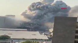 Lübnan'ın başkenti Beyrut'taki dev patlamanın şok dalgalarının yeni görüntüleri ortaya çıktı | Video