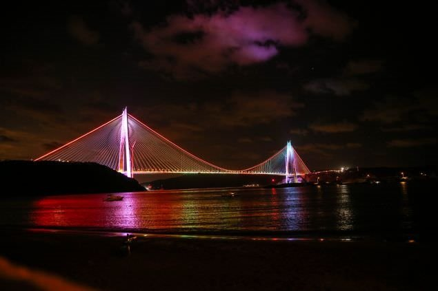 Açılış öncesi Yavuz Sultan Selim Köprüsü böyle görüntülendi