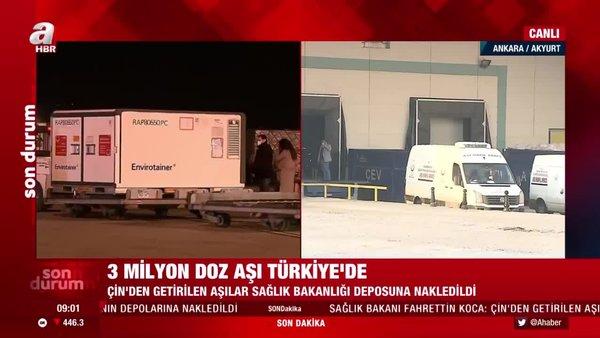 Son Dakika Haberleri | Koronavirüs aşısı ne zaman vurulmaya başlanacak? Kovid-19 aşıları Türkiye'ye geldi! | Video