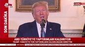 """Trump: """"Türkiye'ye tüm yaptırımların kaldırılması emrini verdim"""""""