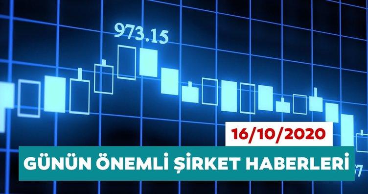 Borsa İstanbul'da günün öne çıkan şirket haberleri ve tavsiyeleri 16/10/2020