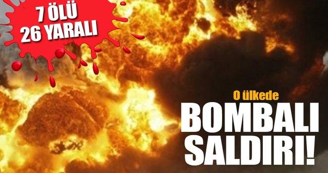 O ülkede bombalı saldırı! 7 ölü, 26 yaralı