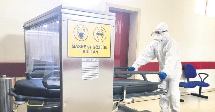 Sedyelere dezenfeksiyon kabini