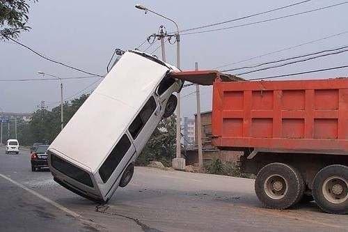 Birbirinden ilginç kazalar!