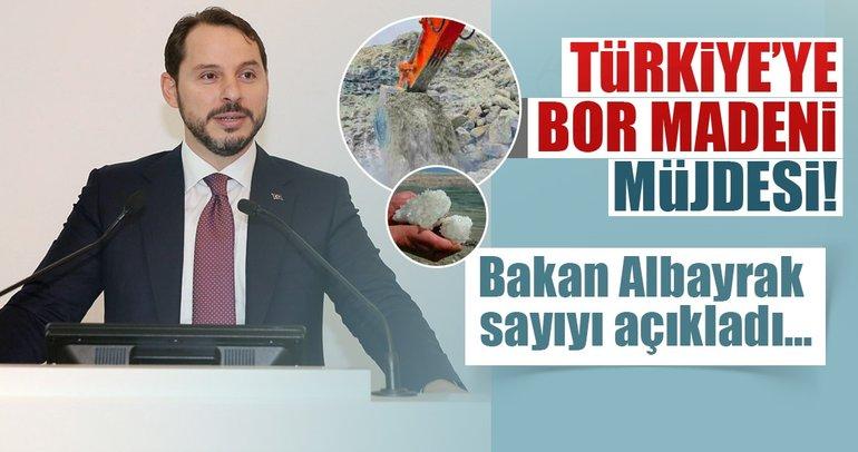 Bakan Albayrak'tan 'bor madeni' müjdesi!