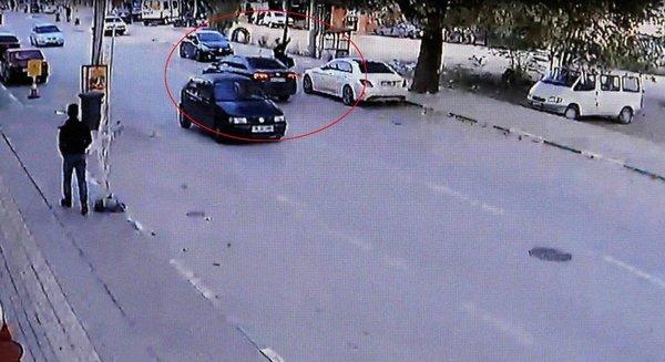 Yaşlı kadının öldüğü kaza kamerada