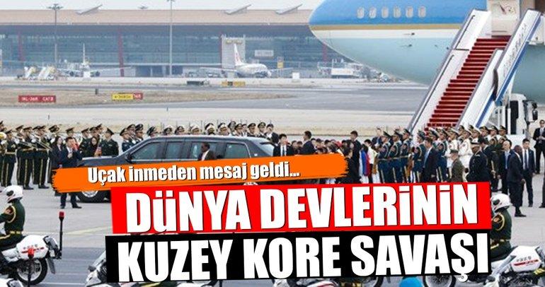 Uçak inmeden mesaj geldi! Dünya devlerinin Kuzey Kore savaşı...