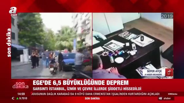 Son dakika! İzmir'de 6,6 büyüklüğünde deprem! Deprem bölgesinde ilk görüntüler | Video