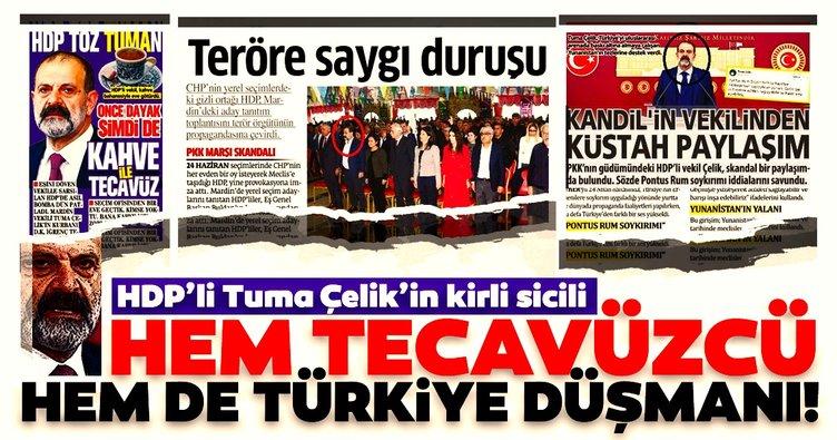 HDP'li Tuma Çelik'in kirli sicili! Hem tecavüzcü hem de Türkiye düşmanı!