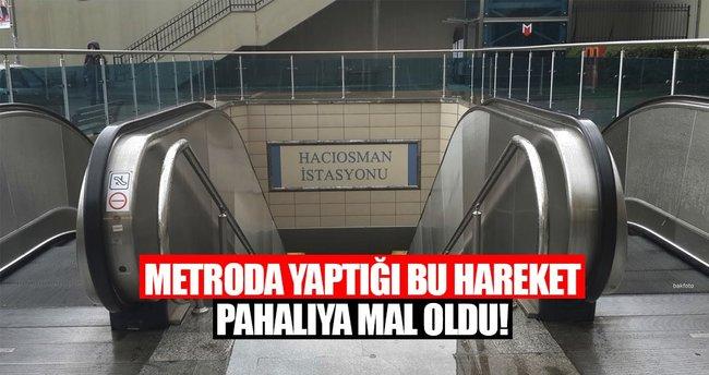 Metro fayanslarına zara verdi pişman oldu!