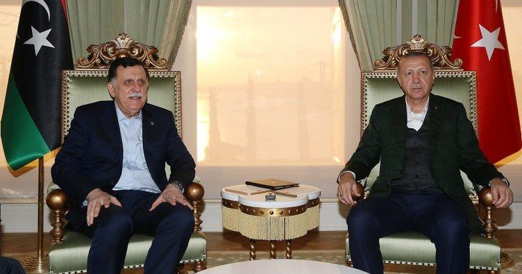 Başkan Erdoğan Fayez Mustafa Al-Sarraj'ı kabul etti