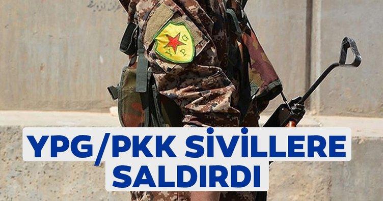 YPG/PKK Suriye'nin kuzeyinde sivillere saldırdı
