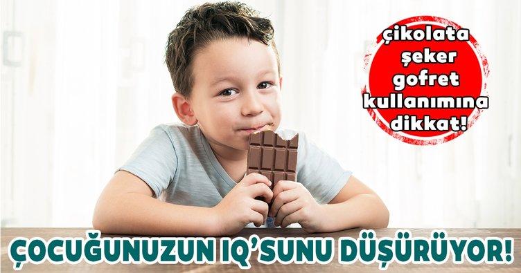 Şeker çikolata ve gofretle çocuğunuzun IQ'sunu düşürmeyin!