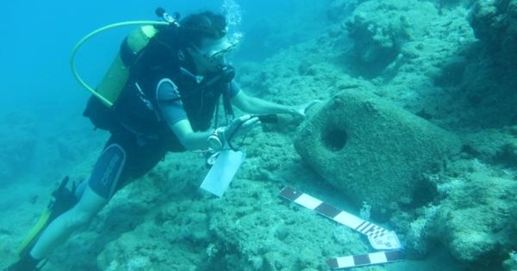 Mersin kıyılarında 18 antik gemi batığı bulundu