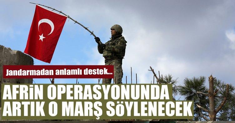 Jandarmadan Afrin operasyonuna yeni marş