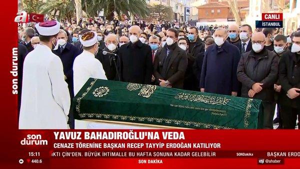 Son dakika: Cumhurbaşkanı Erdoğan Yavuz Bahadıroğlu'nun cenaze namazına katıldı | Video