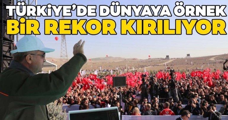Türkiye'de dünyaya örnek bir rekor kırılıyor! Başkan Erdoğan da katıldı