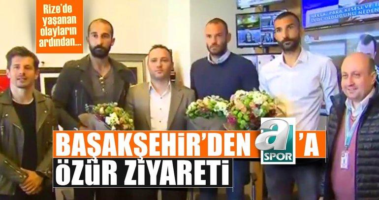 Başakşehir'den A Spor'a özür ziyareti