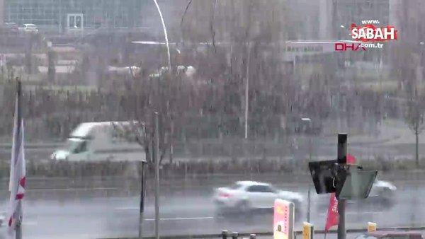Ankara'ya kar yağışı başladı | Video