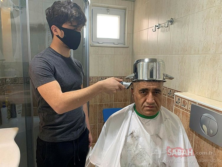 Kafasına tencereyi geçiren türkücü 'tas tıraşı' oldu