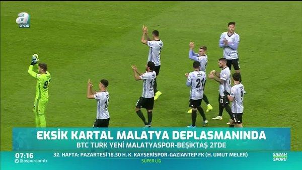 Eksik Beşiktaş Malatya deplasmanında