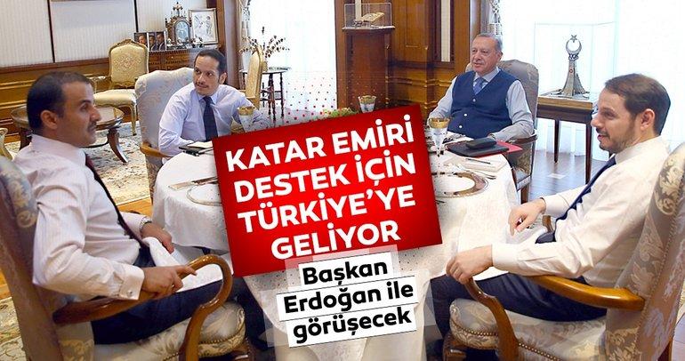 Katar Emiri Şeyh Temim, destek için Türkiye'de