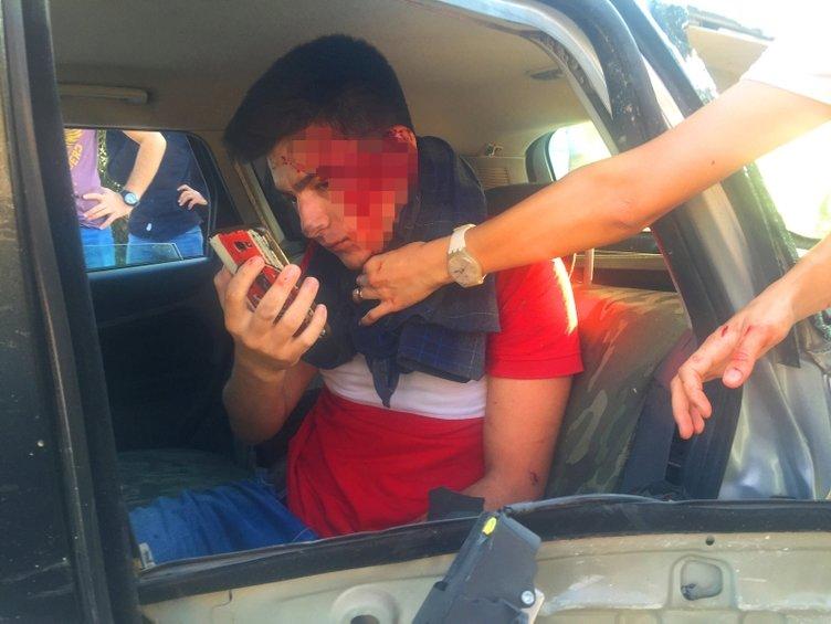 Kazada araçta sıkışan üniversiteli, yüzünü kontrol için telefonla fotoğraf çekti