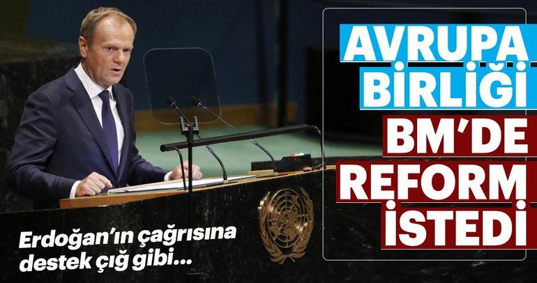 Erdoğanın BMde reform çağrısına ABden destek geldi