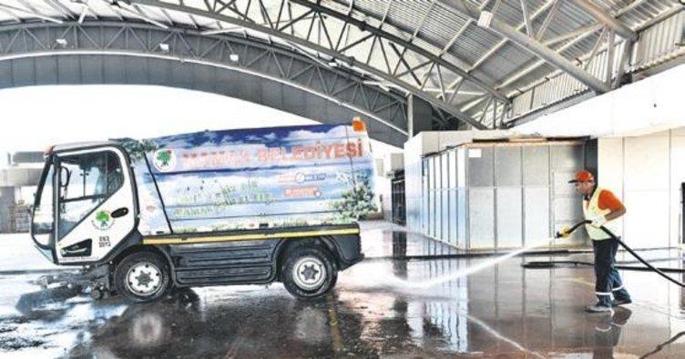 Mamak'ta pazarlar deterjan kokuyor