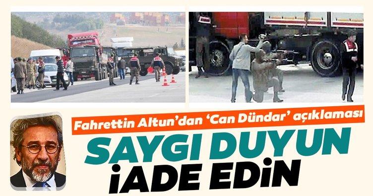 Son dakika: İletişim Başkanı Altun'dan 'Can Dündar' açıklaması: İadesini bekliyoruz...