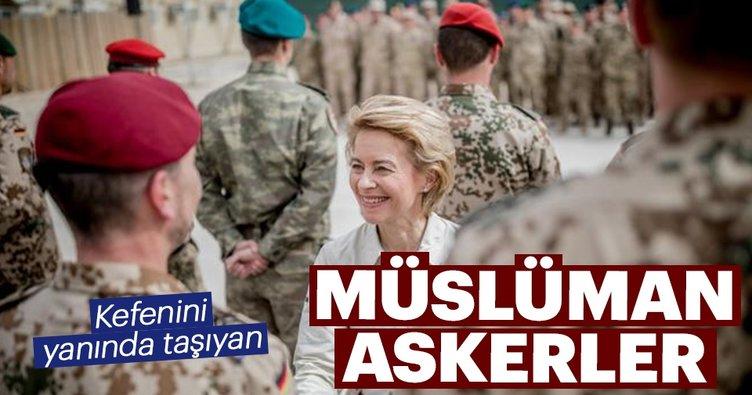 Kefenini yanında taşıyan Müslüman askerler