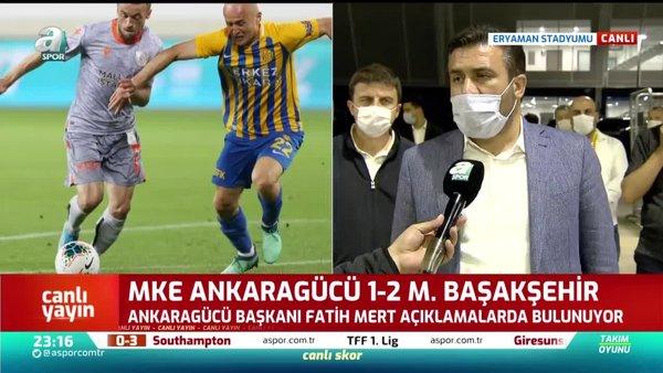 Ankaragücü Başkanı Fatih Mert'ten hakeme tepki!