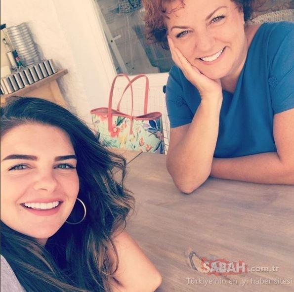 Sosyetik güzel Süreyya Yalçın annesini mutluluktan ağlattı