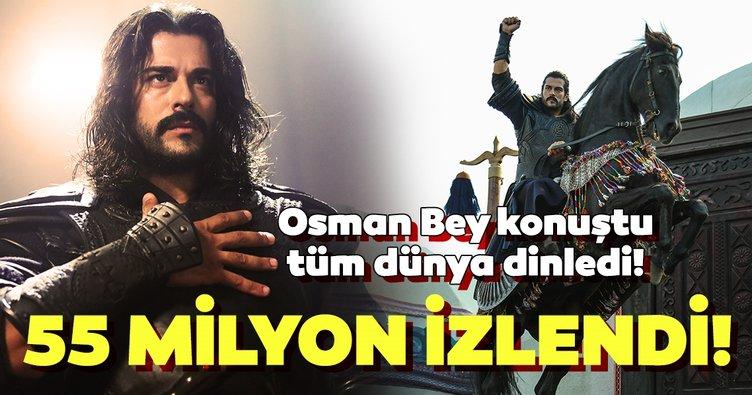 'Kuruluş Osman' rekorla başladı! Osman Bey konuştu tüm dünya dinledi!