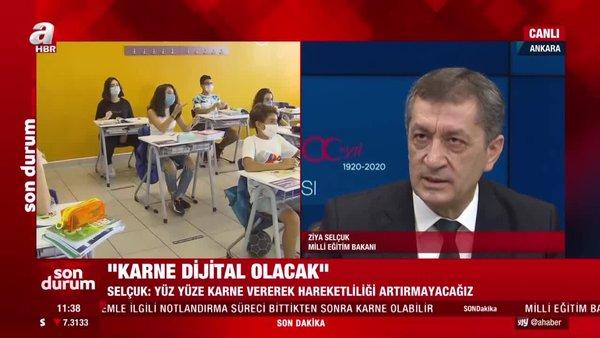 Son dakika! Milli Eğitim BakanıZiya Selçuk'tan yüz yüze eğitim ve 'karne' açıklaması! | Video