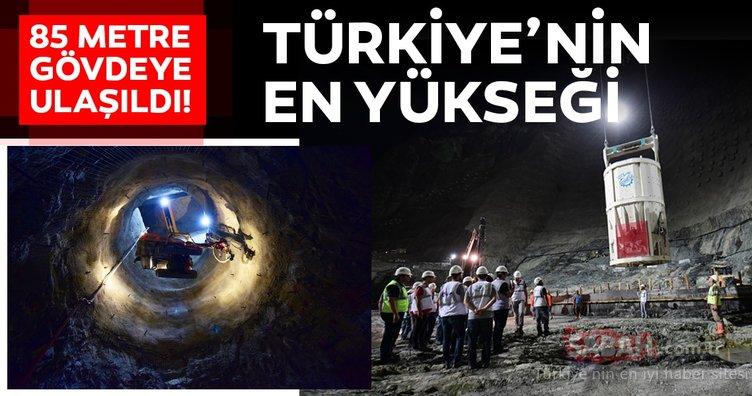 Türkiye'nin en yüksek baraj inşaatında 85 metre gövdeye ulaşıldı