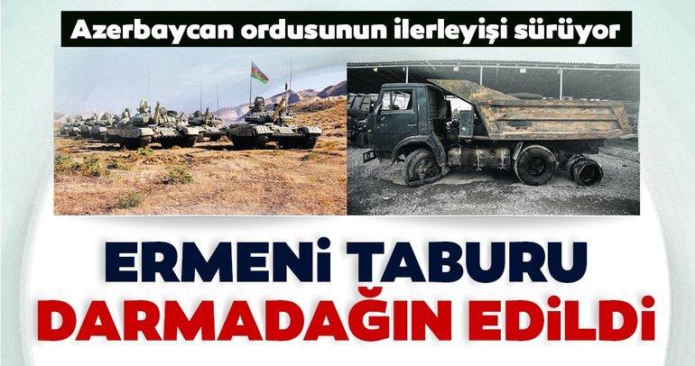 Son dakika: Ermeni taburu darmadağın edildi! Azerbaycan Ermenistan cephe hattında son durum