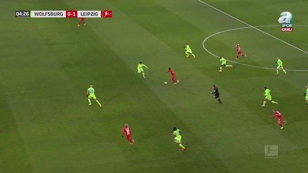 GOL | Wolfsburg 0-1 RB Leipzig
