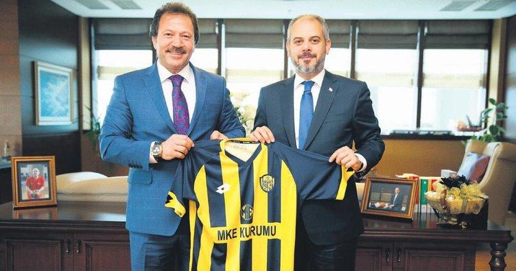 Bakan Çağatay Kılıç, Mehmet Yiğiner'i kabul etti