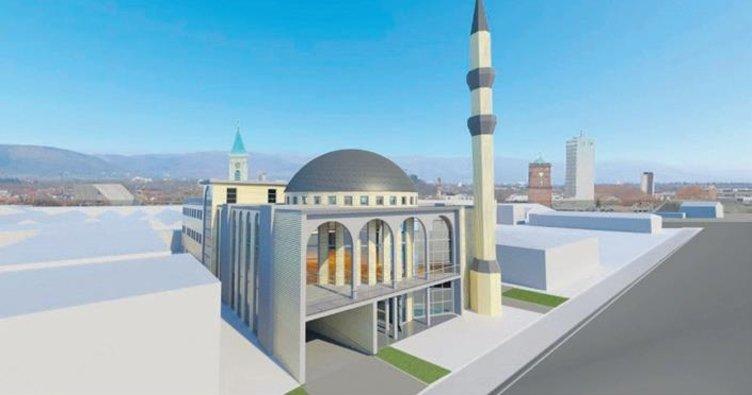 Karlsruhe'de minareli caminin temeli atıldı